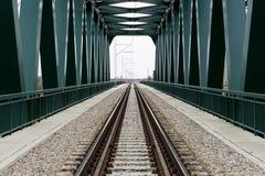 火车交通的桥梁 库存照片