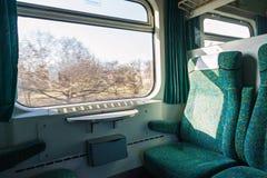 火车内部 免版税库存图片