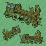 火车减速火箭的剪影 免版税库存图片