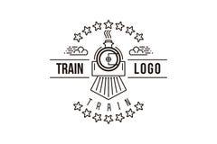 火车单音线商标设计 库存例证