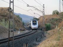 火车向塞维利亚 图库摄影