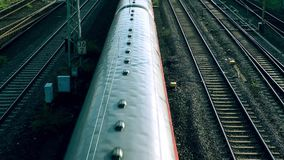 火车和无盖货车运输铁路在德国 影视素材