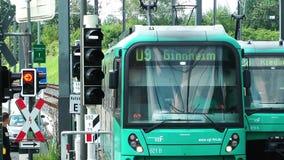 火车和无盖货车运输铁路在德国 股票录像