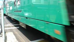 火车和无盖货车运输铁路在德国 股票视频