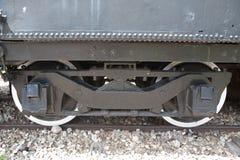 火车和白色的轮子 库存图片