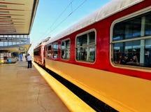 火车在保加利亚 免版税库存照片