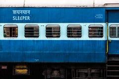 火车在印度 库存图片