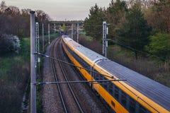 火车在捷克 免版税库存照片