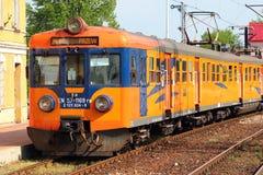 火车在斯塔洛瓦沃拉,波兰 图库摄影