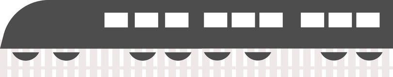 火车在白色背景的商标传染媒介 库存例证