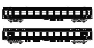 火车套乘客无盖货车 向量例证
