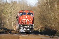 火车工程师开始转移 免版税库存照片