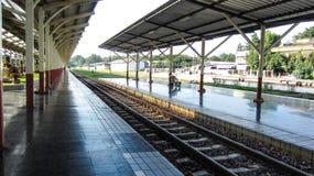 火车平台在曼谷 免版税库存图片