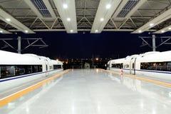 火车平台 库存照片