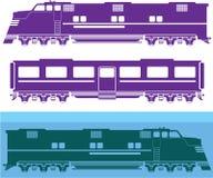 火车引擎 库存例证