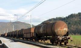 火车无盖货车 免版税库存照片