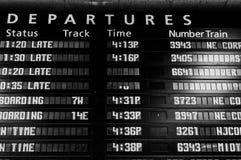 火车日程表委员会 免版税库存照片