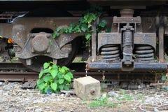 火车桥梁,在Talingchan曼谷泰国附近 免版税图库摄影