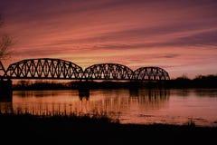 火车桥梁 免版税图库摄影