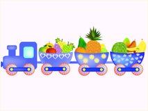 火车用动画片果子 库存图片