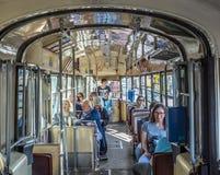 火车的人们在火车站Prater在维也纳 免版税库存照片