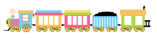 火车的例证 免版税库存照片