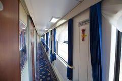 火车的内部 图库摄影