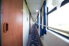 火车的内部 免版税库存图片