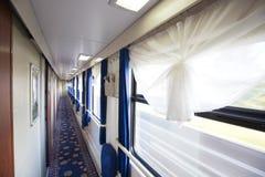 火车的内部 库存图片