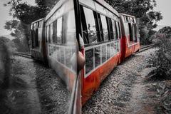 火车的反射 免版税库存图片