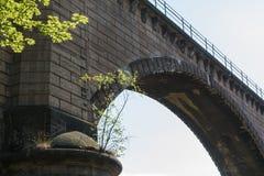 火车的桥梁在开姆尼茨附近 免版税库存照片