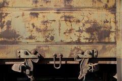火车的生锈的墙壁 免版税库存照片