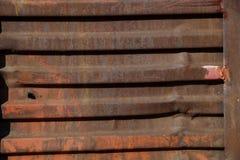 火车的生锈的墙壁 免版税图库摄影