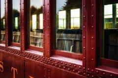 火车的窗口 免版税图库摄影
