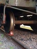 火车的轮子 免版税库存图片