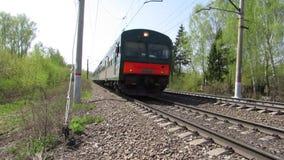 火车的逆交通 股票视频