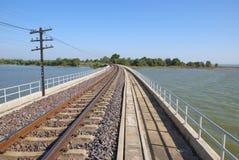 火车的铁路在泰国 库存图片
