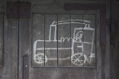 火车的柴尔兹图画 免版税库存图片