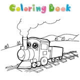 火车着色页传染媒介 免版税库存图片