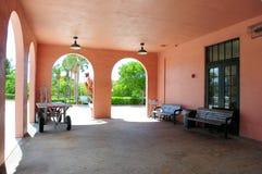 火车站候诊室,佛罗里达 免版税库存照片