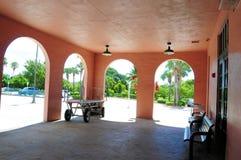 火车站候诊室,南佛罗里达 库存照片