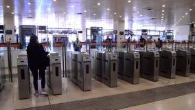 火车站典型为地铁和地铁车站 影视素材