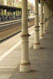 火车站减速火箭的平台索波特 库存图片