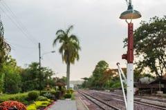 火车站和铁路 免版税图库摄影