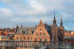 火车站在丹麦 免版税库存照片