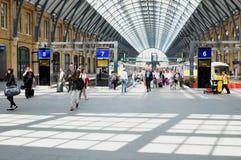 火车站在伦敦,英国 库存图片