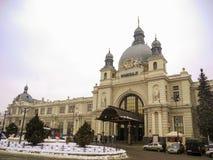 火车站在利沃夫州 库存图片