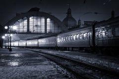 火车站在利沃夫州 免版税库存图片