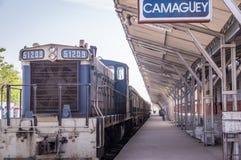 火车站在卡马圭,古巴 免版税图库摄影