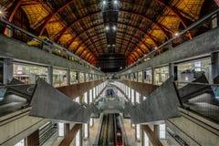 火车站在安特卫普 库存图片